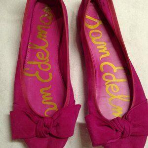 Sam Edelman Emma Pink Suede Ballet Flat Sz10